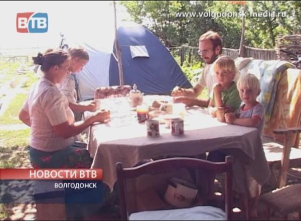 Дом сгорел, живут в палатке