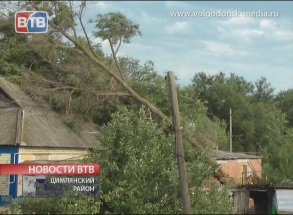 Ураган над поселком Дубравный