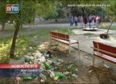 Жители «30-ника» не могут добиться чистоты на детской площадке