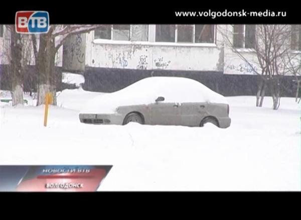 Волгодонск утопает в снегу
