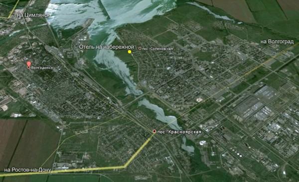 В картах Google Maps появился Волгодонск
