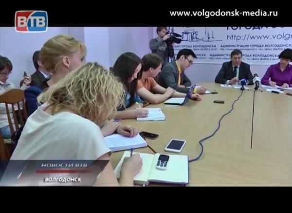 Пресс — конференция мэра Волгодонска Виктора Фирсова