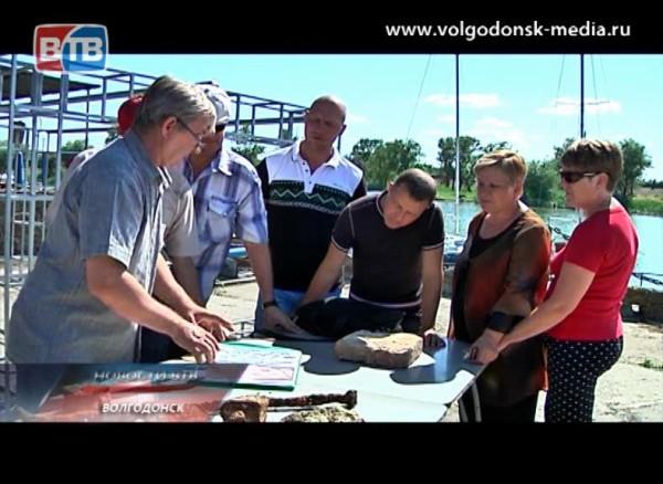 Волгодонские дайверы совершили первое погружение наместо затонувшей крепости Саркел