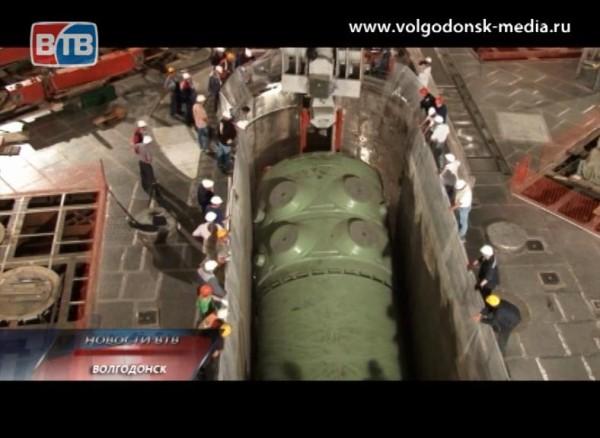 Началась установка корпуса реактора третьего энергоблока