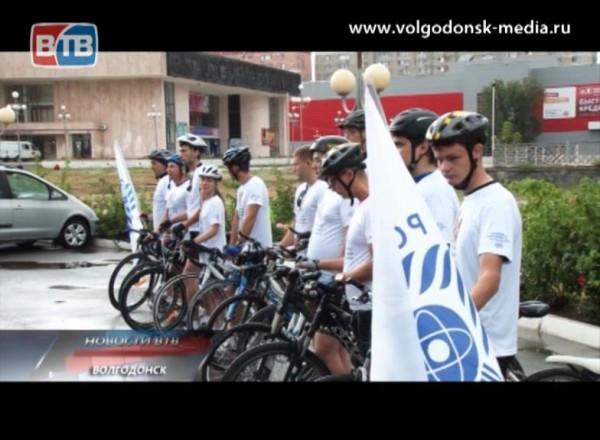 Завершился велопробег волгодонских атомщиков всело Новый Егорлык Сальского района