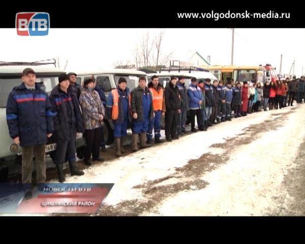 В Цимлянском районе провели тактико-специальные учения по устранению последствий неблагоприятных погодных условий