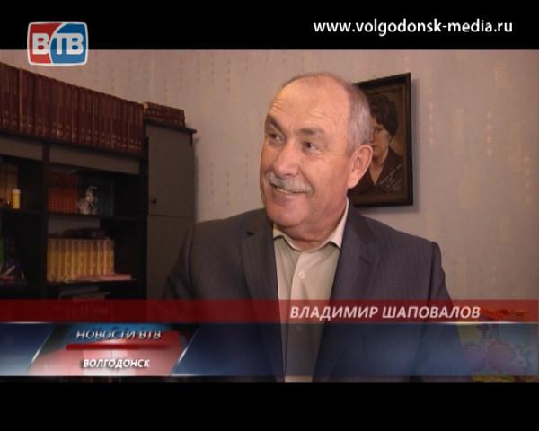 Председатель Союза предпринимателей Волгодонска Владимир Шаповалов отмечает свой 60-летний юбилей