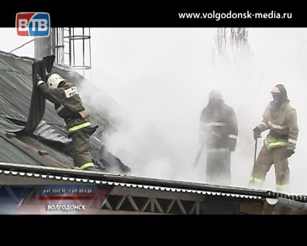 Пожар в старой части города