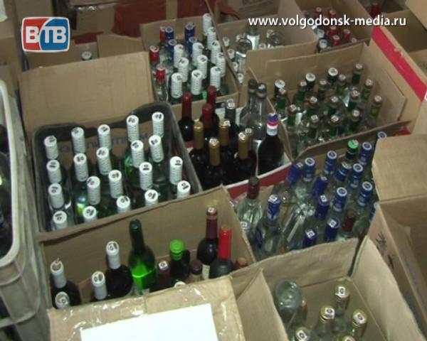 В Волгодонске задержали крупную партию контрафактного алкоголя