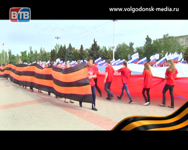 Волгодонск отпраздновал 69-ю годовщину Великой Победы. Специальный репортаж Телекомпании ВТВ
