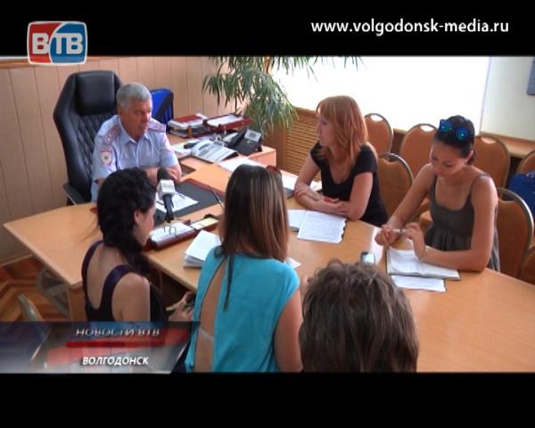 Александр Шабанов рассказал о работе волгодонской полиции в первом полугодии 2014 года