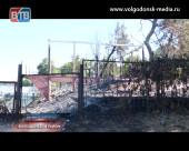 В Романовской сгорела летняя площадка кафе «У Дона»