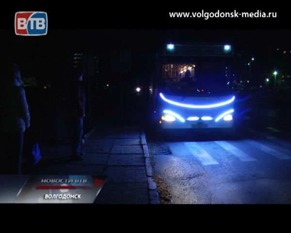 По улицам Волгодонска ездит светящийся автобус