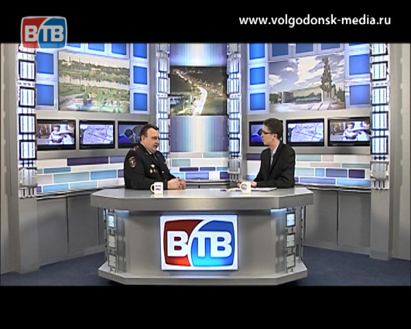 Новый начальник волгодонской полиции в студии новостей