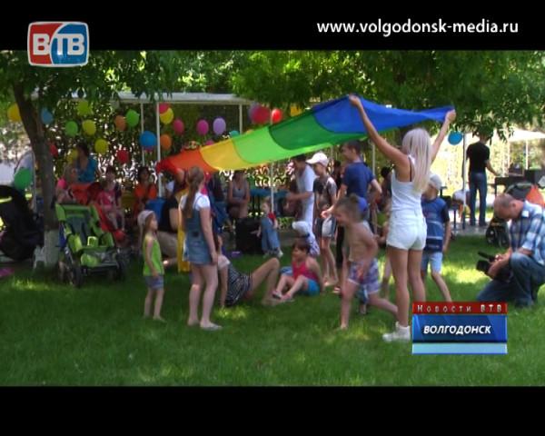 На базе отдыха день защиты детей сегодня отметили особенные малыши
