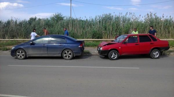 Пьяный водитель на «ВАЗе» врезался в иномарку