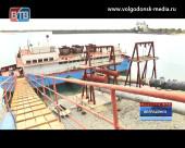 Волгодонску презентовали отремонтированную плавучую насосную станцию