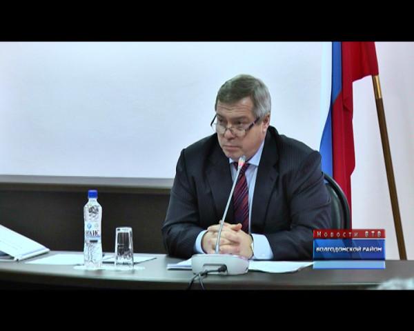 Губернатор Ростовской области Василий Голубев посетил с рабочей поездкой Волгодонск и Волгодонской район