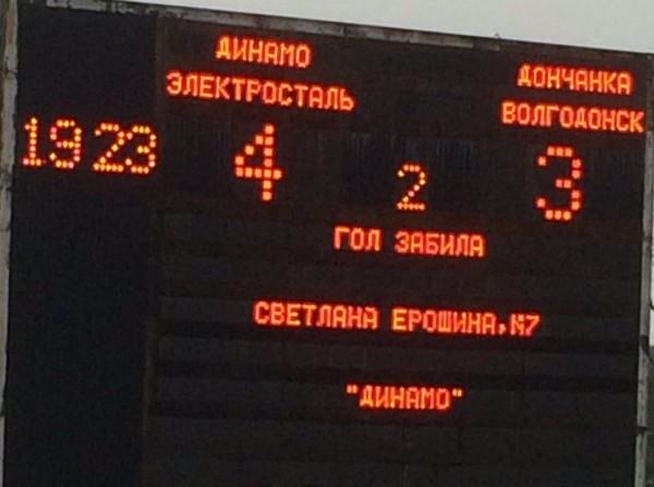 «Дончанка» опустилась на дно турнирной таблицы