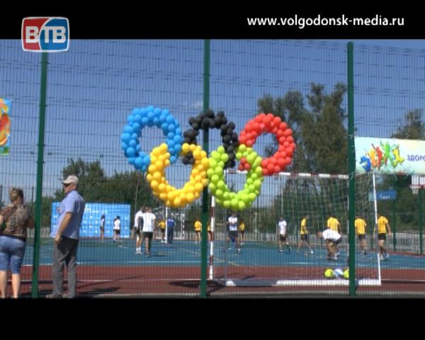В хуторе Потапов открыта новая спортивная площадка