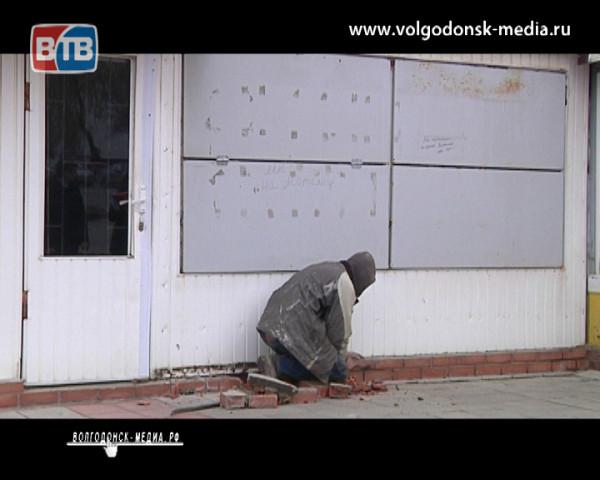 Очистка города от незаконно установленных ларьков продолжается