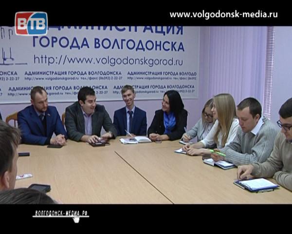 За круглым столом встретились представители молодежного правительства и молодежного парламента Волгодонска
