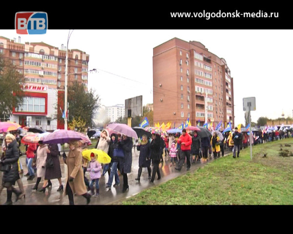 Марш состоится в любую погоду. Волгодонск отметил День народного единства