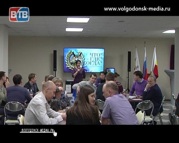 Сборная СМИ Волгодонска остановилась в шаге от победы в очередной игре «Что? Где? Когда?» среди команд высшей лиги