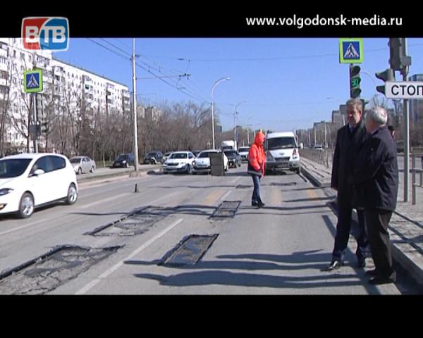 В Волгодонске стартовал ямочный ремонт дорог