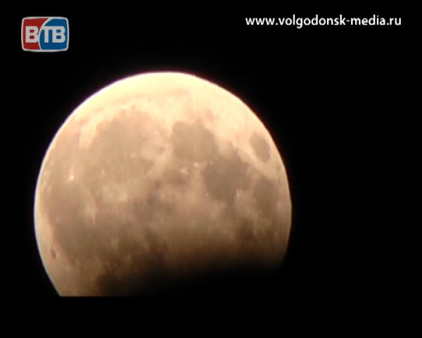 Лунное затмение в Волгодонске. Без комментариев