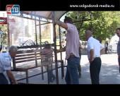 На «Комсомольце» установили новый остановочный павильон