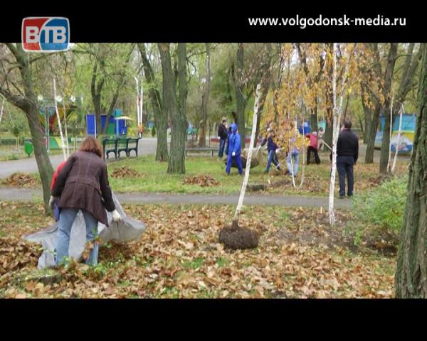 В Волгодонске состоялся массовый субботник. Убраны: парк «Победы», сквер «Юность» и сквер «Дружба»
