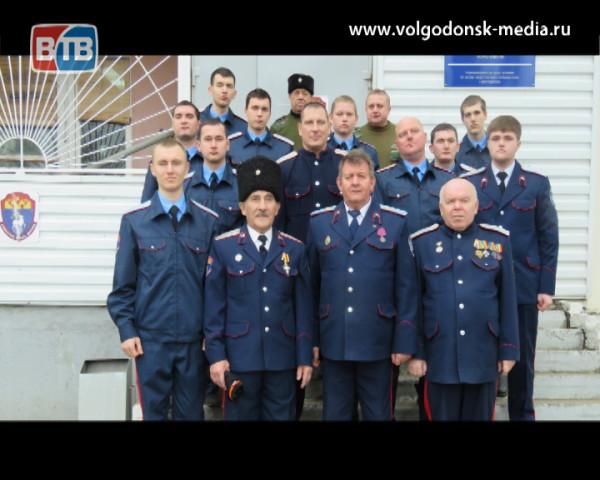Казачья дружина Волгодонска отметила Рождество на службе