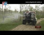 В Волгодонске завершен первый этап противоклещевой обработки