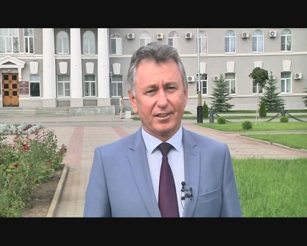 Поздравление главы администрации Волгодонска Виктора Мельникова с Днем города