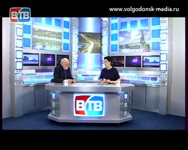 Гость в студии ВТВ — председатель общественной палаты Волгодонска — Виктор Стадников
