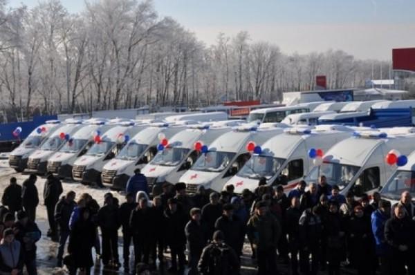 Более 40 машин «скорой помощи» получила Ростовская область