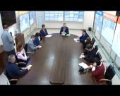 На блочном щите управления четвёртого энергоблока Ростовской АЭС представители четвёртой власти