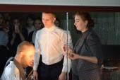 Школьники на акции «Театральная среда» в Волгодонском молодежном драмтеатре