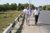 Виктор Мельников: на мосту через оросительный канал и на путепроводе будет заменен отбойный брус