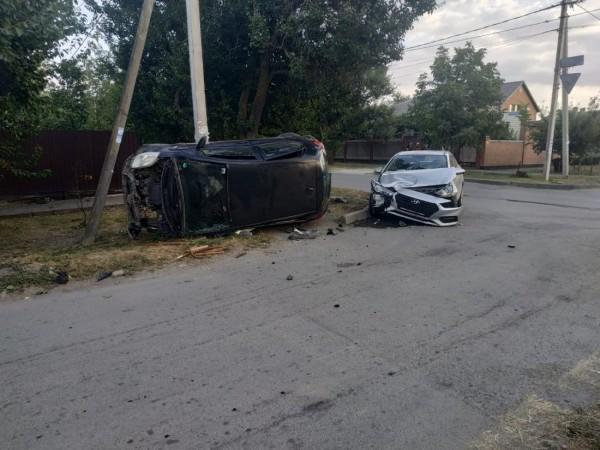 В Волгодонске в столкновении двух иномарок пострадала пенсионерка