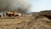 В Волгодонске горит мусорный полигон