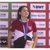 Вероника Кучеренко завоевала «серебро» на всероссийских соревнованиях по плаванию «Резерв России»