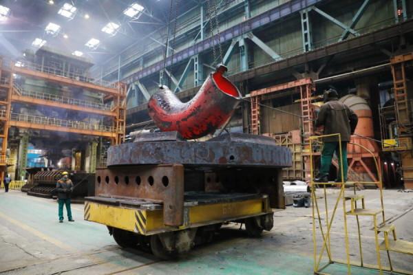 На Атоммаше изготовили комплект колен главного циркуляционного трубопровода