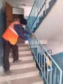 В многоквартирных домах ведется санобработка мест общего пользования
