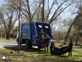 Более 200 кубометров мусора вывез «ЭкоЦентр» с территории парка «Победы» в Волгодонске