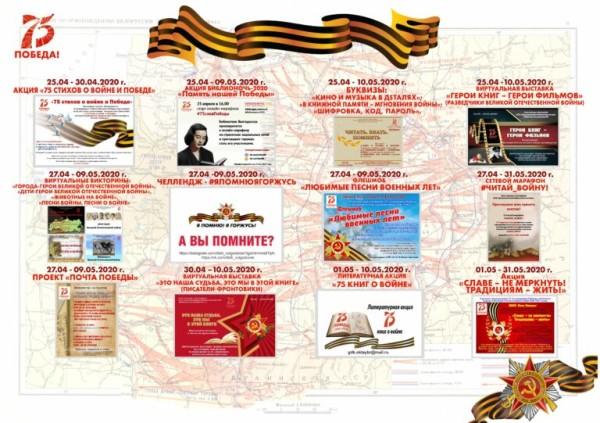 Афиша праздничных мероприятий, посвященных 75-й годовщине Победы советского народа в Великой Отечественной войне 1941-1945 годов