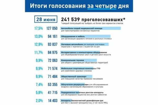 Итоги четырех дней голосования в рамках губернаторского проекта «Народный совет»