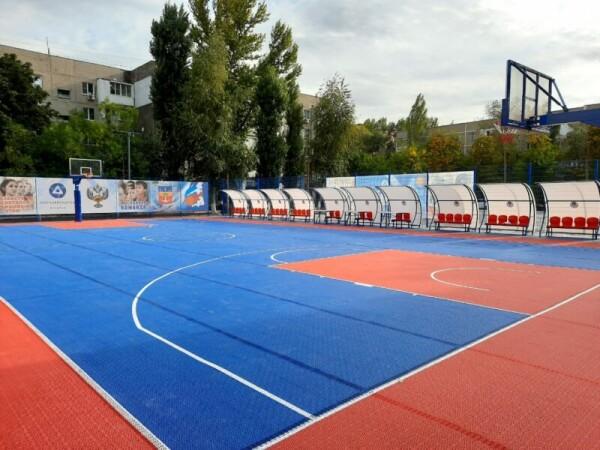 Планета баскетбола «Оранжевый атом»: в Волгодонске завершается сооружение специализированной баскетбольной площадки