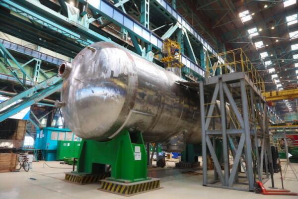 Первый корпус парогенератора для первого блока Курской АЭС-2 успешно прошел гидроиспытания на Атоммаше